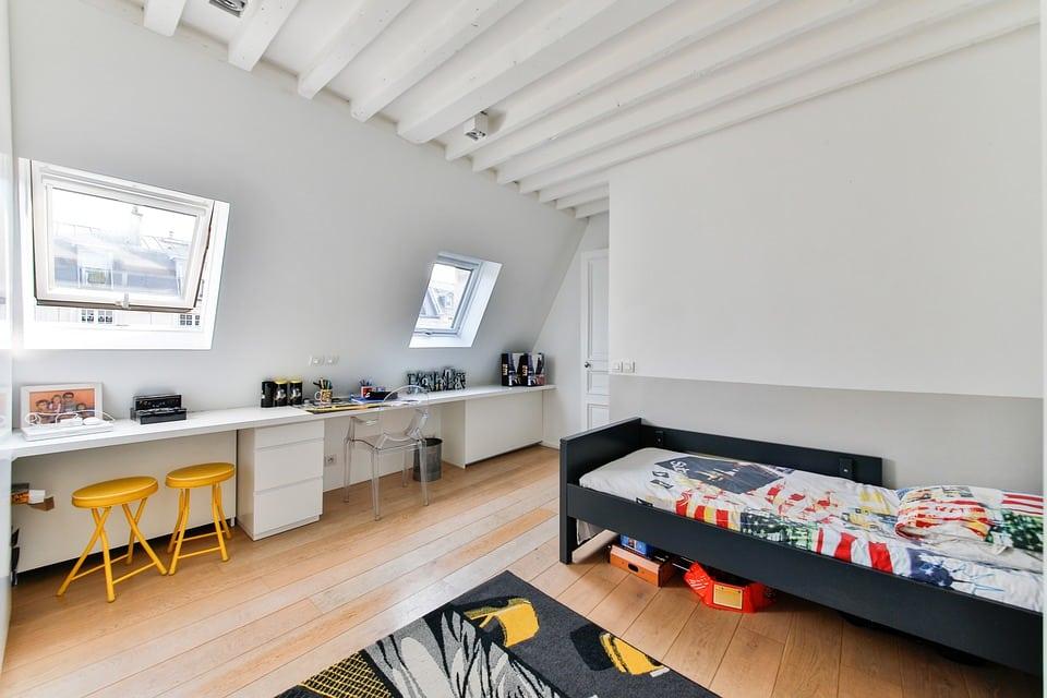 conseils de d coration et d am nagement de l espace sous le lit mezzanine. Black Bedroom Furniture Sets. Home Design Ideas