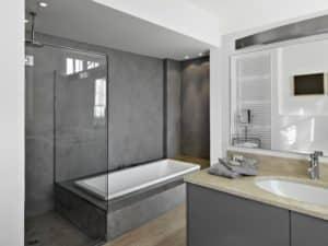 D co salle de bain quel b ton cir choisir home dome - Salle de bain en beton cire ...