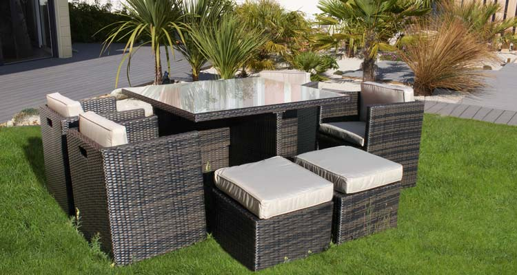 salon de jardin bois m tal plastique ou r sine. Black Bedroom Furniture Sets. Home Design Ideas