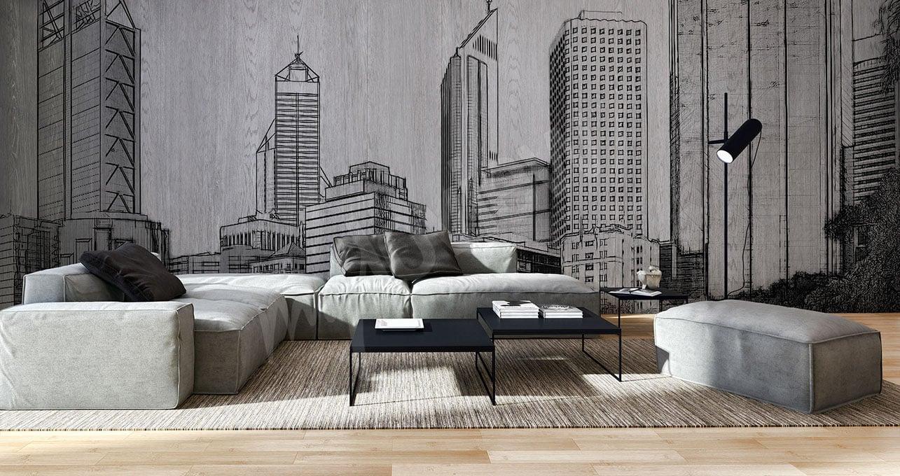 le papier peint une uvre d art home dome. Black Bedroom Furniture Sets. Home Design Ideas